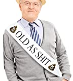 "JPACO""Old AS SHlT"" Sash - Perfect for Birthday Sash, Retirement Work & Party, Adult Novelty Gift for Men and Women"