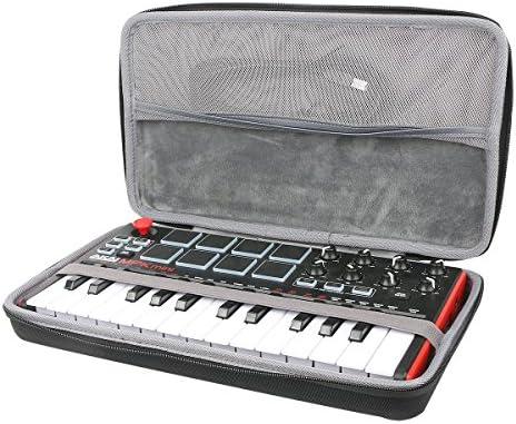co2CREA Duro Viajar caja estuche funda para AKAI Professional MPK MINI MKII Teclado controlador MIDI USB portátil(estuche caja)