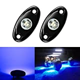 Kyпить 2 Pods LED Rock Lights Kit, Ampper Waterproof Underglow LED Neon Trail Rig Lights for Car Truck ATV UTV Baja Raptor Offroad Boat Trail Rig Lamp Underbody Glow (Blue) на Amazon.com