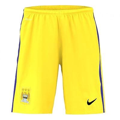 2015-2016 Man City Home Nike Goalkeeper Shorts (Yellow)
