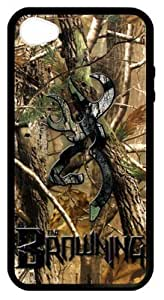 LILICHEN Browning Cutter Logo Tree Camo Case Cover for Iphone 4/4S(Laser Technology) -- Design By LILICHEN