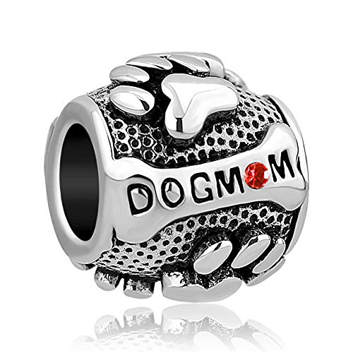 CharmSStory Paws Animal Dog Mom Silver Plated Charms Beads For Bracelets (JULY)