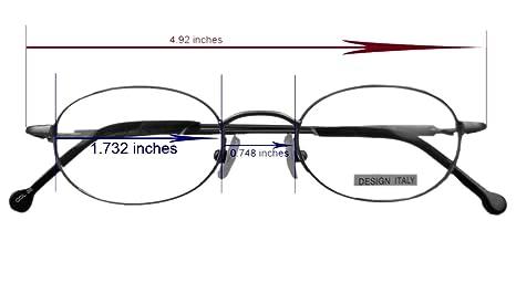 32dd3f966d7 Amazon.com  Opticaleyeglass Men Women Eyeglass Frames Metal Vintage Round oval  44-19-135 (Teal)  Clothing