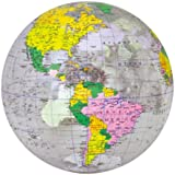 """Jet Creations Inflatable Globe, Clear, 16"""""""