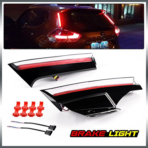 Rear Window Brake Light (2x Rear Window decoration lamp led brake lights for Nissan Rogue X-Trail 2014-17)