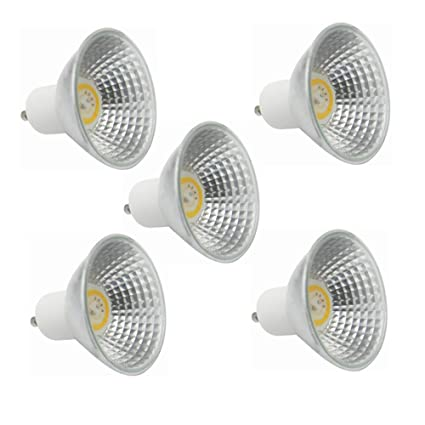50-Watt Equivalent 5-Watt 350-400Lumen 3000K//6000K LED Light 5-Pack LED GU10 Bulb 45 Degree Beam Angle Color : Warm White Non-Dimmable