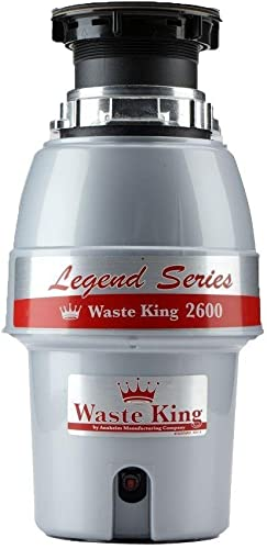 Waste King L-2600 Continuous Feed Garbage Disposal with Power Cord, 1 2 HP – Renewed