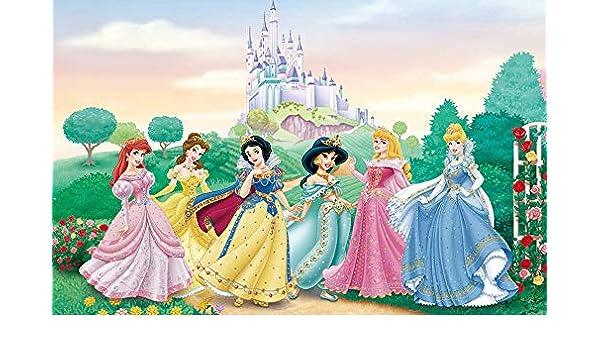 AQSGH Personalizada personalizado pintura de pared grande 3D de dibujos animados Disney Princesa TV pared de fondo dormitorio de los niños, seda transparente de alto grado (tamaño completo): Amazon.es: Bricolaje y herramientas