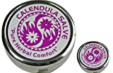 Calendula Salve in Extra Large 4oz and .5oz Travel Tin from The Super Salve Company (Bundle of 2) -