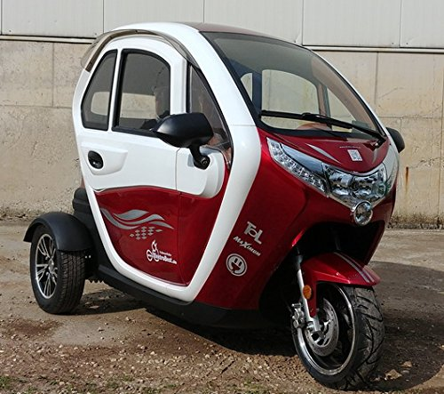 TOL - Vehículo ligero eléctrico - Vespa eléctrica con cabina, velocidad máxima de45 km/h.: Amazon.es: Coche y moto