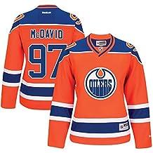 97 Connor McDavid Edmonton Oilers Home Women's Premier Jersey Orange color Size S