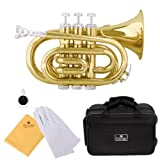Cecilio Gold Lacquered Bb Pocket Trumpet - PT-280