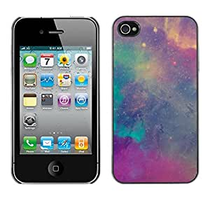 Planetar? ( Stars Nebulae Purple Teal Sky Cosmos ) Apple iPhone 4 / iPhone 4S / 4S Hard Printing Protective Cover Protector Sleeve Case