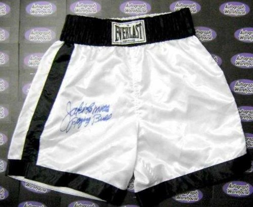 Autograph Warehouse 86368 Jake Lamotta Autographed Boxing Trunks Inscribed Raging Bull by Autograph Warehouse