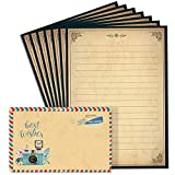 Lined Vintage Stationary Paper and Envelopes Set 48