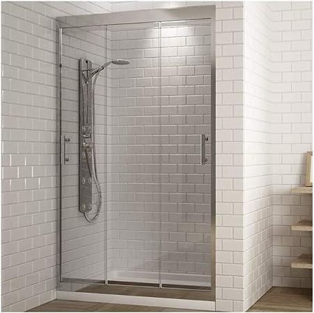 Mampara FRONTAL ducha 3 PUERTAS correderas.Cristal transparente ...