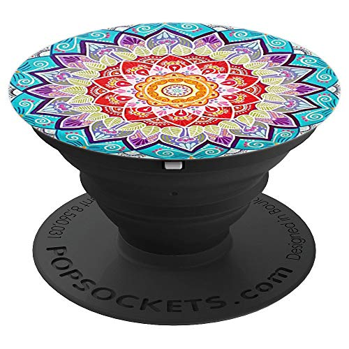 (Pop Sockets Cascade of Mandalas of Different Colors - PopSockets Grip and Stand for Phones and Tablets)