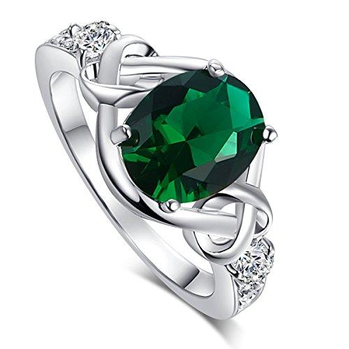 Oval Cut Emerald Ring - 3