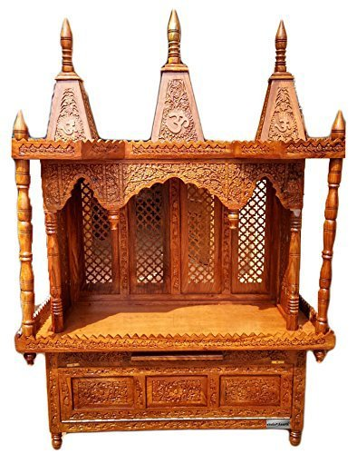 Delicieux Home Temple / Wood Temple / Prayer Unit / Pooja Temple / Pooja Cabinet /  Large
