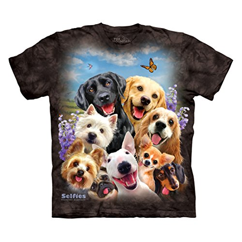 The Mountain Men's Dog Selfie T-Shirt, Black, XL