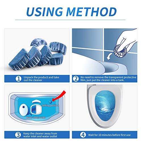 Vacplus Automatic Toilet Bowl Cleaner Tablets, Bathroom Toilet Tank Cleaner (6 PACK), VA-T185