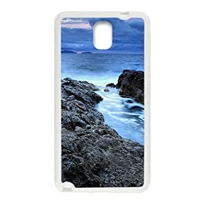Blue Sea And Sky White Phone Case for Samsung Galaxy Note3