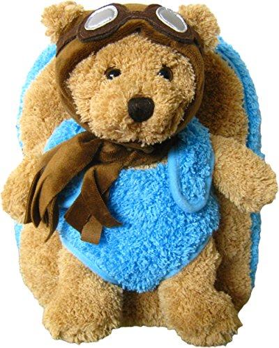 Aviator Bear (Kreative Kids Adorable Aviator Pilot Bear Plush Backpack with Removable Stuffed Animal)