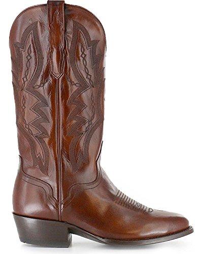 El Dorado Mens Handmade Vanquished Calf Cowboy Boot Round Toe - Ed1101 Tan zKAjPHve