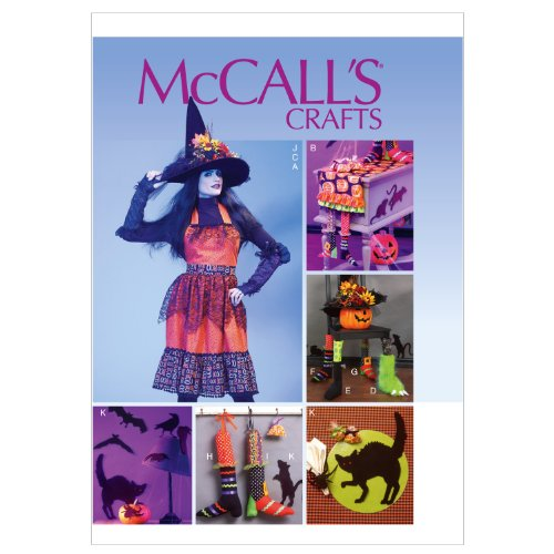 McCall Patterns M6623MIS Apron, Table Runner, Gloves, Chair Decorations, Hat and Silouettes Sewing Pattern
