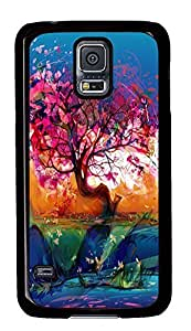 Samsung S5 case design Abstract Tree PC Black Custom Samsung Galaxy S5 Case Cover
