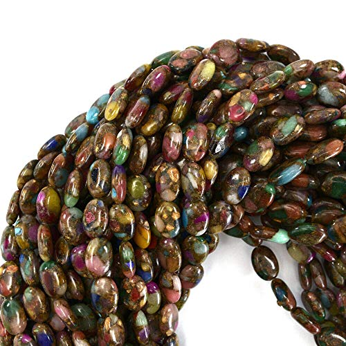 Ruby Zoisite Flat Oval Beads - 14mm Ruby Zoisite Pressed Jade Flat Oval 15.5