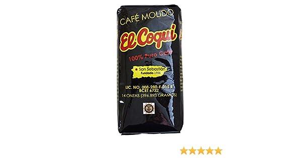 Cafe El Coqui Puerto Rican Ground Coffee By Torrefaccion Cafe El Coqui 2 Pounds Value Pack 4 8