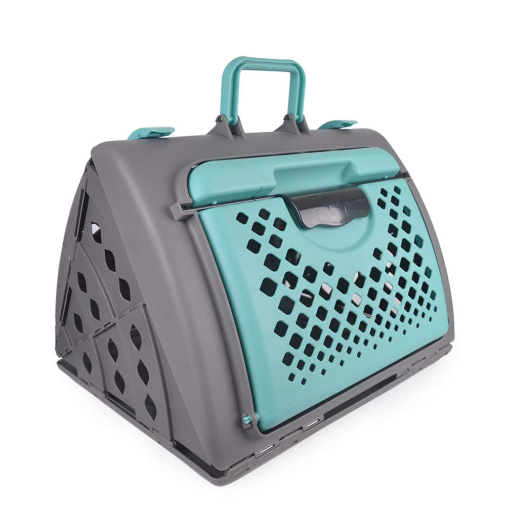 Green Pet Supplies Flight Case Cat and Dog cage Outing Portable cat Dog cage Cat and Dog car Box