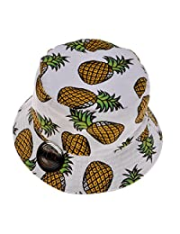 ZLYC Unisex Cute Fruit Print Bucket Hat Summer Fisherman Cap