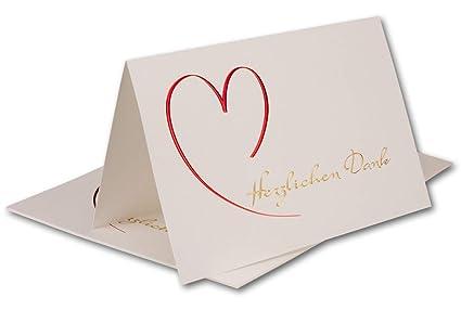 10 X Danksagungskarte Mit Umschlag Goldene Hochzeit