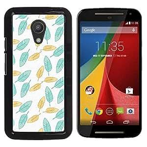 For Motorola MOTO G 2ND GEN II Case , Painted Teal Wallpaper Green - Diseño Patrón Teléfono Caso Cubierta Case Bumper Duro Protección Case Cover Funda