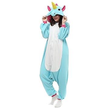 KiKa Monkey Unisex Unicornio Adulto Ropa de Hombre Animal Pijamas Traje de Cosplay Pijamas de Navidad