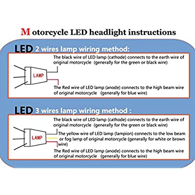 Andux Dual Aperture Hi/Low Beam LED Projector Headlight For Motorcycle Angel Eyes Devil Eyes Halo EMY-02 (Red/Blue): Automotive