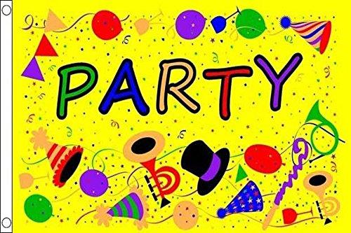 (AZ FLAG Party Time Yellow Flag 3' x 5' - Parties Flags 90 x 150 cm - Banner 3x5)