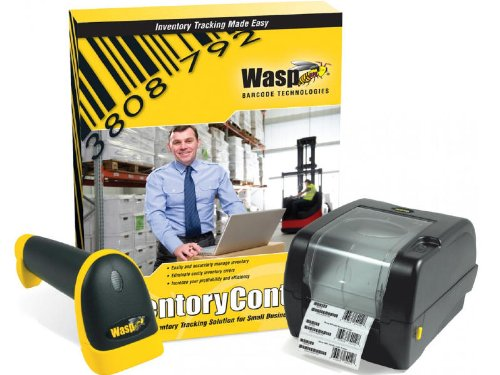 Wasp Inventory Control Standard Software with WWS550i Handheld Barcode Scanner and WPL305 Barcode Printer by Wasp