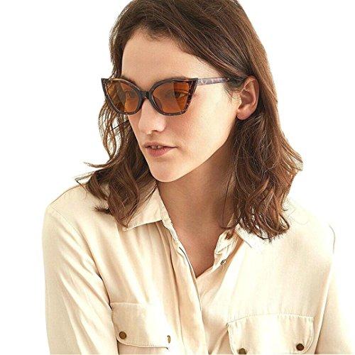 de Unisex Ojo blanco Gafas Gato Dorado de para Estilo Hunpta Sol para Mujer Vintage FvfnwnSTxq