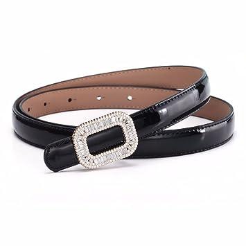 Mode strass décoratif ceinture femme fine décorative femmes ceinture en  cuir robe été Noir a8c2e1ebefa