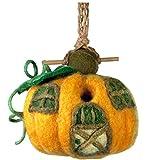 dZi Wild Woolies Handcrafted Felted Sheep's Wool Pumpkin Cottage Birdhouse For Sale