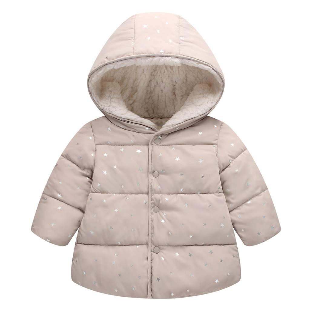 Kids Baby Hooded Down Cotton Padded Jacket Girls Winter Wadded Coat Warm Snowsuit Quilted Outerwear Vine Trading Co. Ltd K180719MF00203V