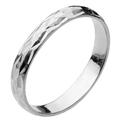 Diamond Cut Band Ring Sterling Silver 925 Best Price Jewelry Selectable 4mm