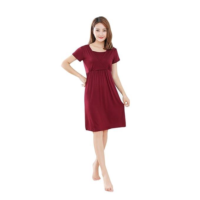 SamMoSon 2019 Blusas Premama Camison Maternidad Vestidos Tallas Grandes Blusas Mujer,Madre Embarazadas Bebé De