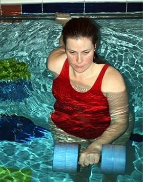 Agua mancuernas de aeróbic acuático Heavy boya Barbell Aqua Fitness Running: Amazon.es: Deportes y aire libre