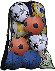 AvoDovA Extra Large Mesh Ball Bag, Mesh Equipment Bag with Drawsting and Adjustable Shoulder Strap, Heavy Duty