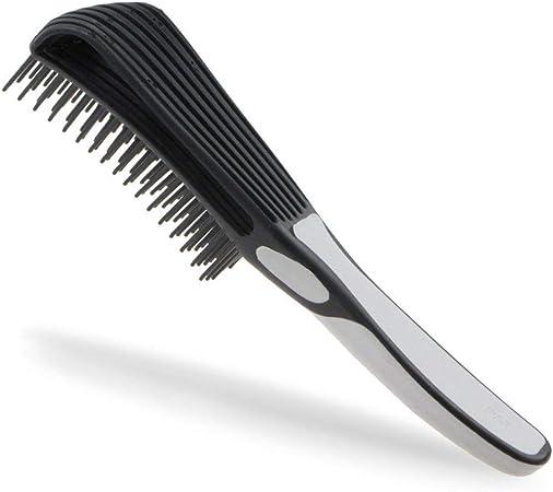 Démêlant Brosse pour Cheveux Démêlant Naturel Afro Texturé 3a À 4c Kinky Onduleux, Peigner Brosse Detangle Facilement avec HumideSec Épais Bouclés