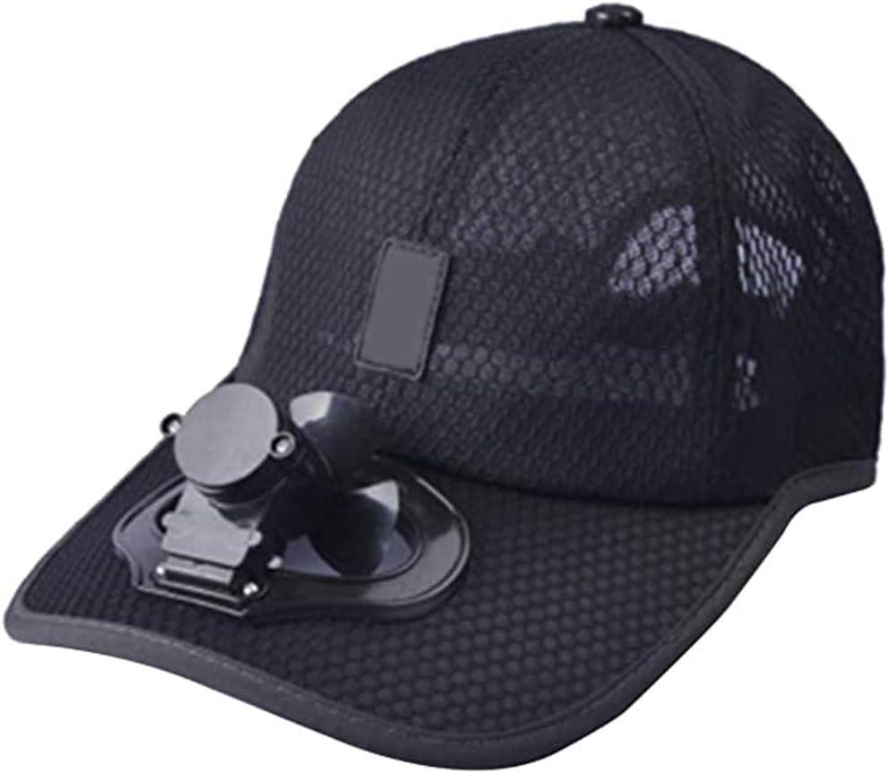 Ciclismo Kooshy Berretto da Baseball con Ventola Cappellino USB da Esterno per Esterno Traspirante velocit/à del Vento Regolabile per lalpinismo Arrampicata Pesca e Viaggi